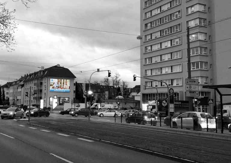 Außenwerbung in Darmstadt – Heidelberger Straße / Eschollbrückerstraße