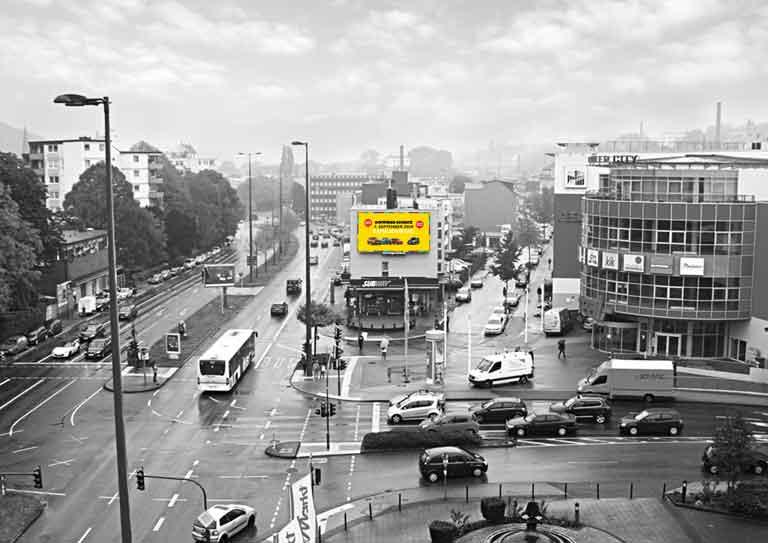 Außenwerbung in Wuppertal – Friedrich-Engels-Allee & Bendahler Straße