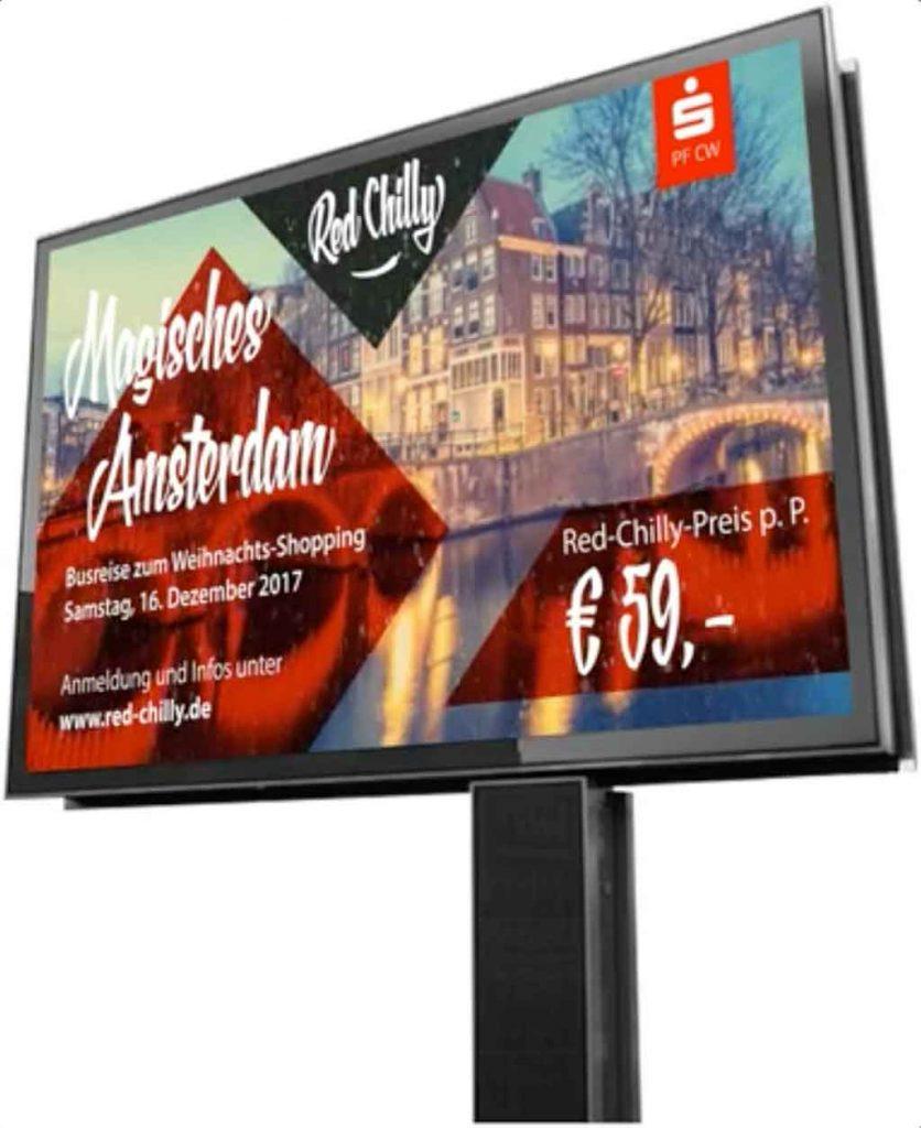 MEGA Screen – digitale Außenwerbung, die bewegt
